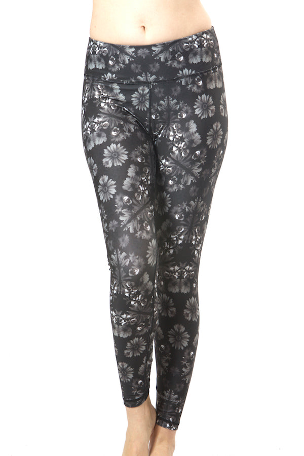 Grey Floral Activewear Sports Sets Yoga Sets #EMS190016