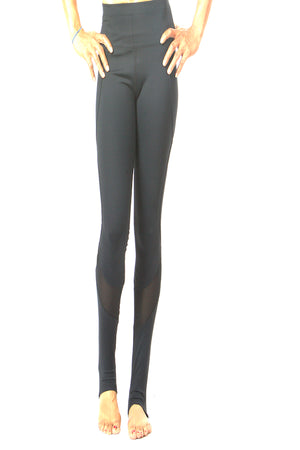 Black Stylish Cutout Legging Yoga Pants #EMS190018 Unique designer's legging activewear legging mesh block legging high quality legging stretch fabric legging NYFW PFW MLFW LDFW SFFW LAFW la showroom vendor wholesale legging
