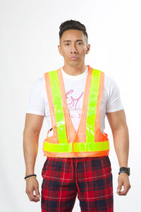 Unisex High Tech LED Lights Safety Vest #EMSV19002