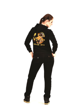 Black Tracksuit Sparkle Dragon Embroidery  EMW18001