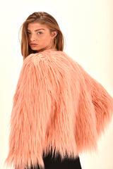 Pink Faux Fur Coat FW18/19 Warm Jacket  ITEM # EMW180020