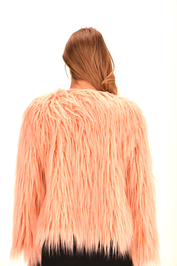 hot pink faux fur coat pink fur coat pink fluffy jacket pink fur coat cheap luxury faux fur jacket luxury faux fur coat for sale  christmas sale coat  fashionista coat  peach pink faux fur coat