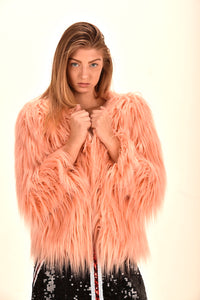 hot pink faux fur coat pink fur coat pink fluffy jacket pink fur coat cheap luxury faux fur jacket luxury faux fur coat for sale  christmas sale coat  fashionista coat