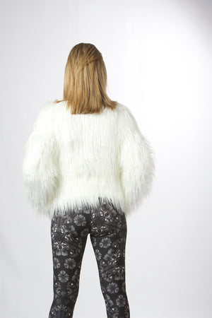 white faux fur warm jacketwomen's christmas light up jacket new year jacket las vegas style jacket fashionista  fashion icon stylish jacket blogger lover jacket must have it list ellie mei design Ellie Mei fashion jacket wholesale faux fur lights up jacket  USA brand jacket