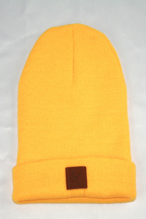 orange color warm beanies