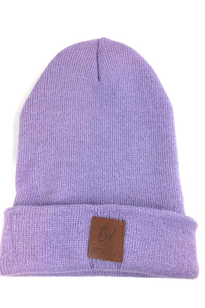 purple warm beanies