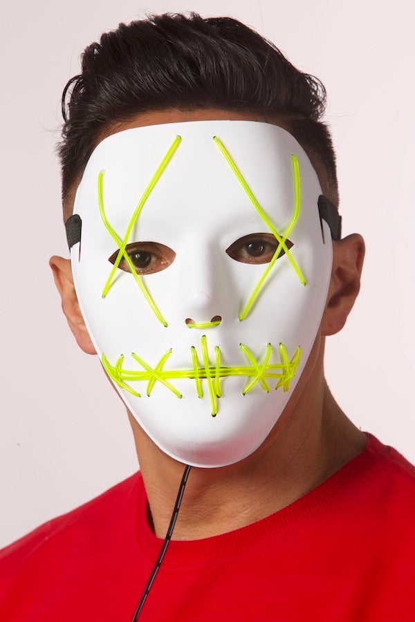 Unisex Halloween Mask Cosplay LED Lights Mask  #EMWL1