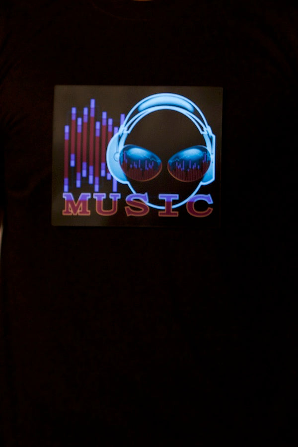 Unisex Lights Up With Music T-Shirt Couple Wear T- Shirt #EMS190010M