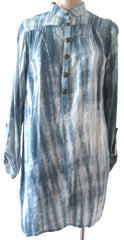 Ellie Mei Women's Long Sleeve Tie-Dye Rayon Top Cover-Up KHL-EM148