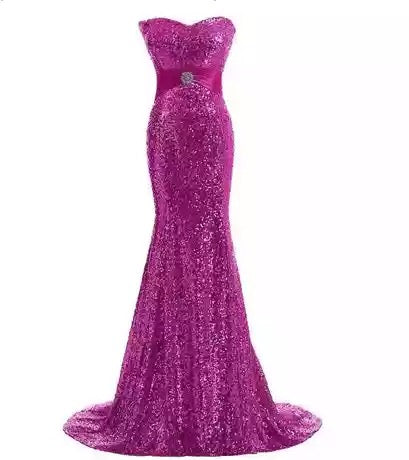 hot pink mermaid dress sparkle evening gown red carpet dress Oscar dress run way gown mermaid dress sweetheart neckline dress strapless gown green sparkle prom strapless sparkle hot pink adjustable dress  prom