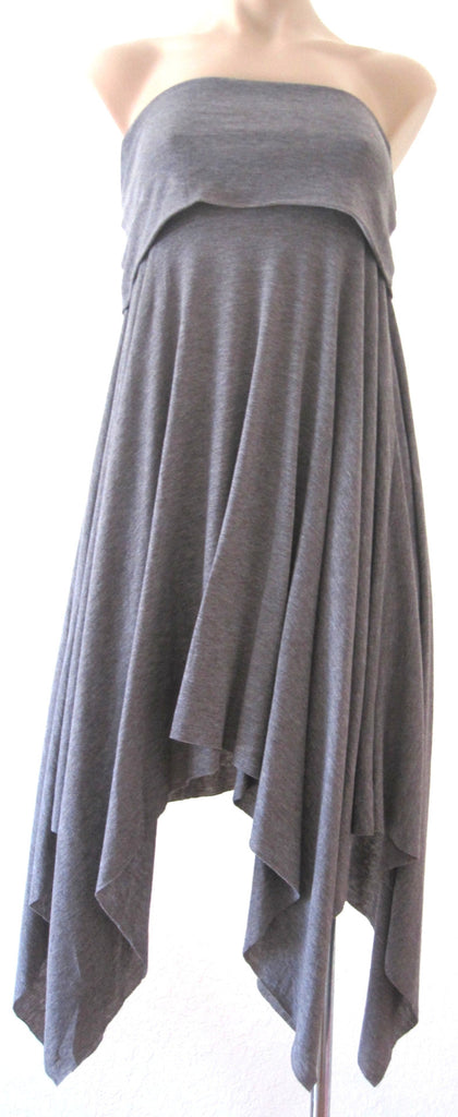 Ellie Mei Women's Grey Multi-Wear Maxi Dress . Cape . Cover-up KHL-EM63S