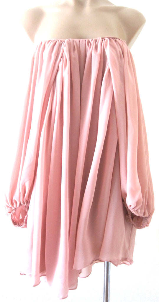 Ellie Mei Women's Black Pink Multi-Wear Very Soft And Smooth Chiffon Maxi Dress .Cover-Up KHL-EMC1
