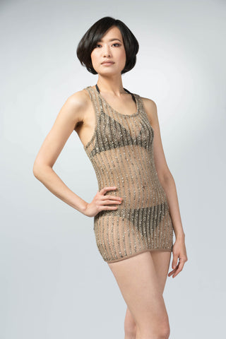 Ellie Mei Women's  Mesh  Cover.Mini Dress . beach wear cover up. Resort wearItem NO:KHL-EM100