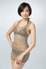 Ellie Mei Women's Mesh Cover. Mini Dress .beach wear . Resort wear Item NO:KHL-EM100