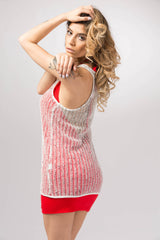 Women's Mesh Cover. Mini Dress .Beach Wear . Resort Wear #KHL-EM100