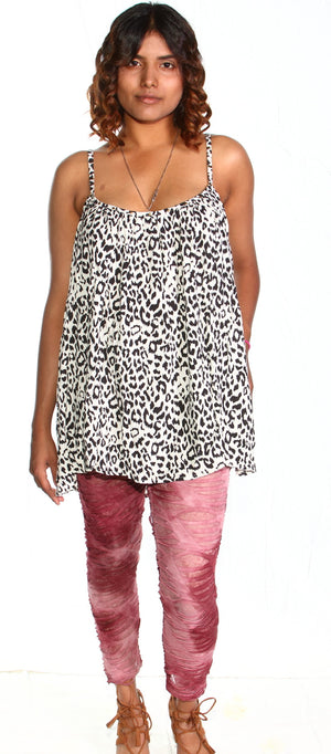 Ellie Mei Zebra Printed Maxi Mini Dress .Cover-up KHL-EM129