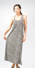Ellie Mei Women's Long  Leopard Printed  Dress .Long dress .Cover-Up KHL-EM155