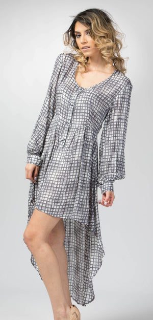 Ellie Mei Women's Long Printed  Round High-Low Hem Rayon  Dress Cover-Up  KHL-EM168