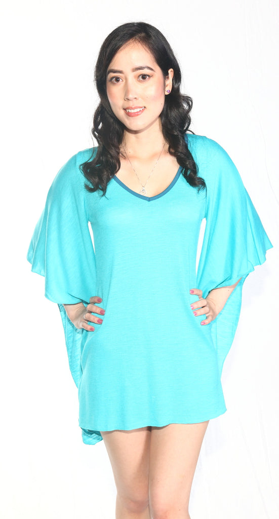 Ellie Mei Women's Blue Mini Dress .Cover-Up KHL-EM26