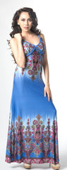 Ellie Mei Women's Boho Dress. Slim Bodycon  Dress.Floral Hawaii Style Dress. Resort Wear  KHL-EMCD028