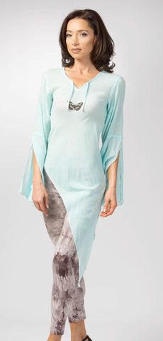 Ellie Mei Women's Cotton With Butterfly Top .Asymmetrical Hem Top. KHL-EMIN