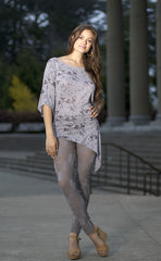 Ellie Mei Woman's Slim  Leggings(Slim Fit ). Grey Sheer Leggings KHL-EM94