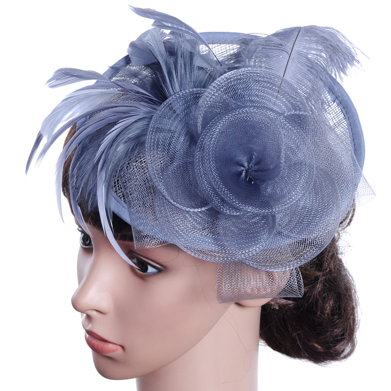 Women's Hair accessories .Feather Net Mesh Fascinators Hats. Headpiece .Cocktail Hat  ITEM NO: EMH1
