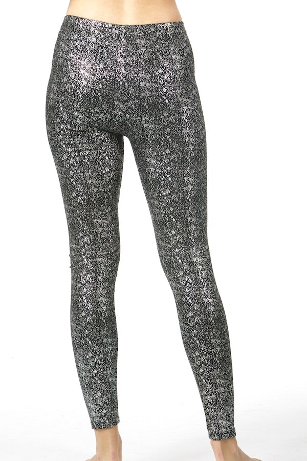 Black Shiny Tights Skinny Legging EMS19001 wholesale legging sparkle snowflake legging yoga pants top fashion pants nyfw pfw mlfw ldfw jpfw lafw sffw designer legging  lululenmon