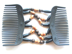 Women's  Hair-Comb Butterfly Clips.Double Comb.Easy Comb .Magic Hair-comb.Stretchy Beaded Hair Comb  EM-CM1