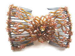 Women's  Magical Hair-Comb Butterfly Clips.Double Comb.Easy Comb .Magic Hair-comb. Beaded Hair Comb ITEM NO EM-CM22