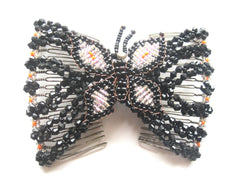 Women's  Magical Hair-Comb Butterfly Clips.Double Comb.Easy Comb .Magic Hair-comb. Beaded Hair Comb ITEM NO EM-CM23