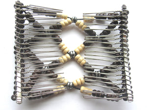 Women's Fashion Double Comb.Easy Comb .Magic Hair-comb.Stretchy Wood BeadsEM-CM25