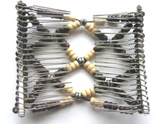 Women's Fashion   Magical Hair-Comb Butterfly Clips.Double Comb.Easy Comb .Magic Hair-comb.Stretchy Wood Beads Hair Comb EM-CM25