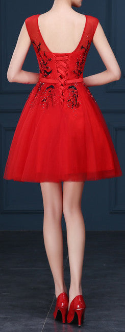 Red Prom .Evening Gown . EM10006
