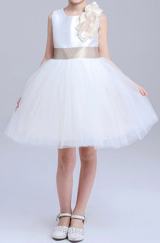 Girl's White Classic Party Dresses EM213KE