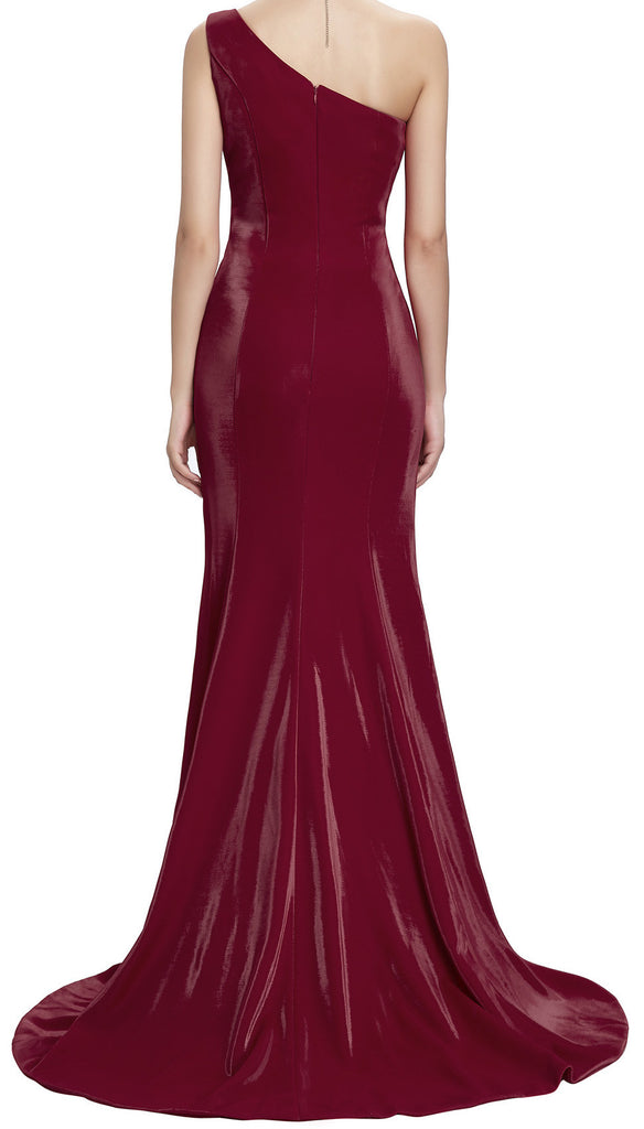Women's Vixen Red One Shoulder Elegant Mermaid  Ball Gown  EM00016