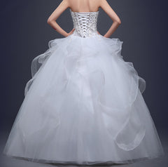 Ellie Mei White Wedding Dress  ITEM NO:EMW100011