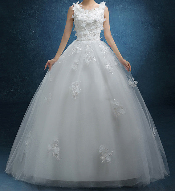 Ellie Mei Women's Wedding White Dress ITEM NO:EMW100012