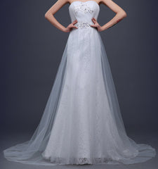 Ellie Mei Women's White Lace Wedding Dress ITEM NO:EMW100010
