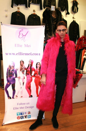 unisex faux fur coat hot pink unisex faux fur coat runway coat fashion show faux fur coat  hot pink faux fur jacket wholesale faux fur coat winter warm coat long body faux fur coat  shopping the runway NYFW MLFW LAFW SFFW PFW LDFW JPFW