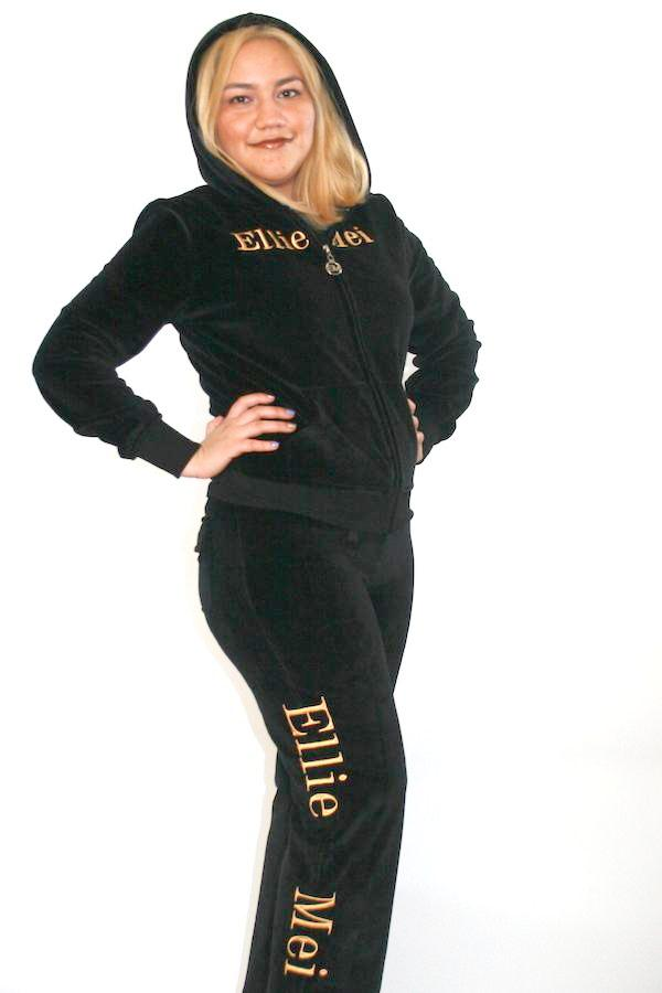 Women's black tracksuit ,casual wear sets with very soft and comfy fabric. 2 pieces sports wear with sparkle dragon embroidery  ,unique and stylish design .Long sleeves with banded cuffs and hoodie jackets , full length pants with adjustable drawstrings perfect for sports , running, shopping, traveling all outdoor activities.