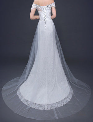 Wedding Dresses Online  White Mermaid Lace Dress  ITEM NO EMW100017