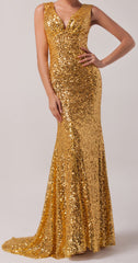 Women's Deep V Neckline Sequined Prom Dress EM00020