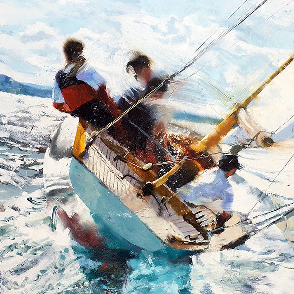 team work, lean, keel, evocative, choppy, lake, beauty