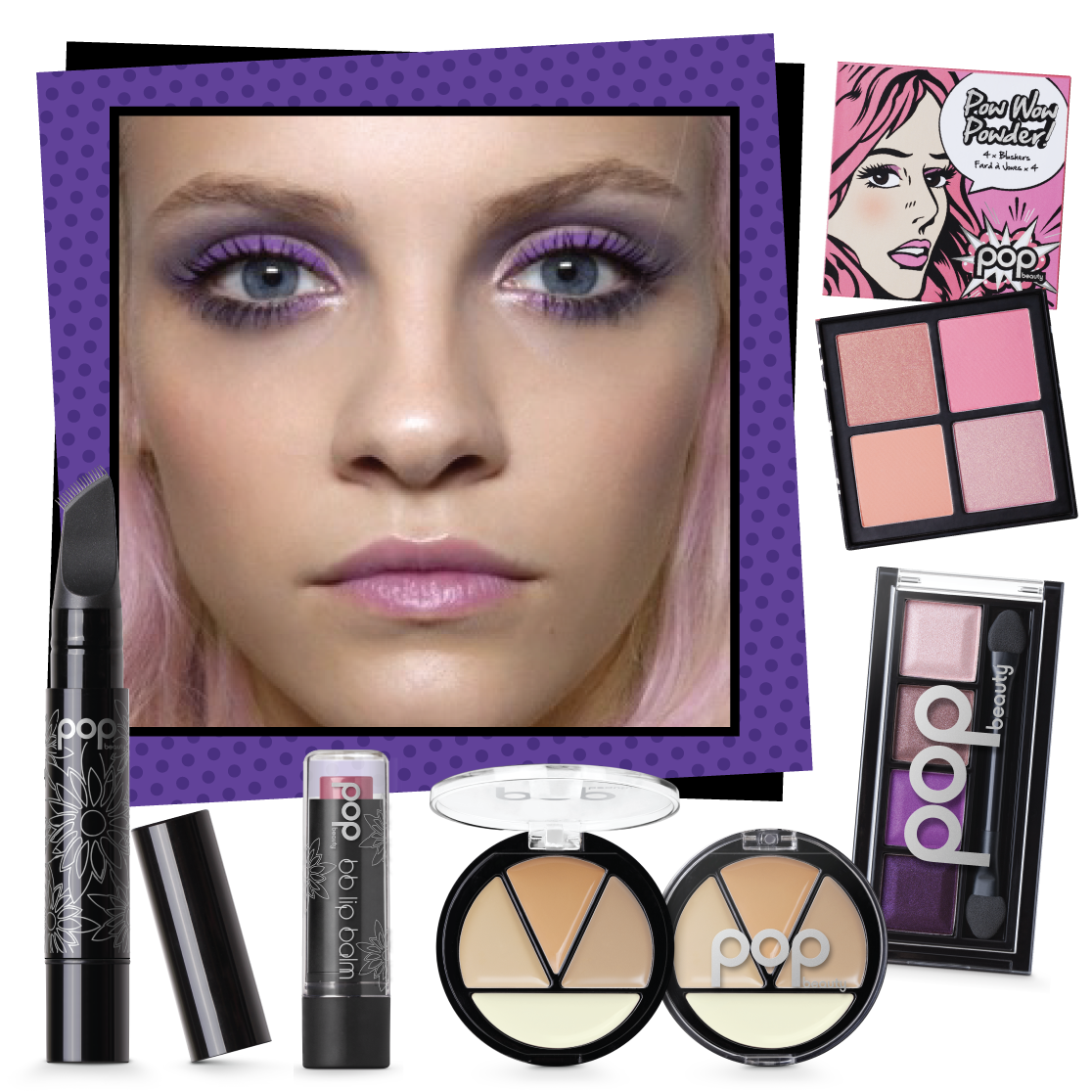 POPBeauty Winter Violet Look