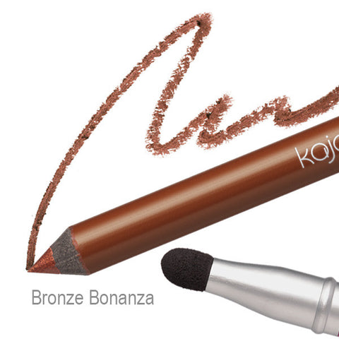 Pop Beauty Kajal Pen - Bronze Bananza Swatch