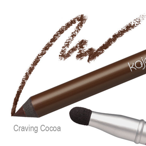 Pop Beauty Kajal Pen - Craving Cocoa Swatch