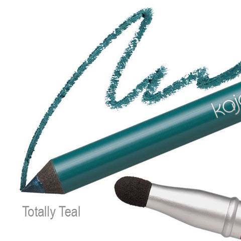 Pop Beauty Kajal Pen - Totally Teal Swatch