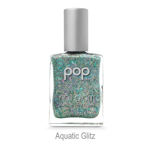 Nail Glam in Aquatic Glitz