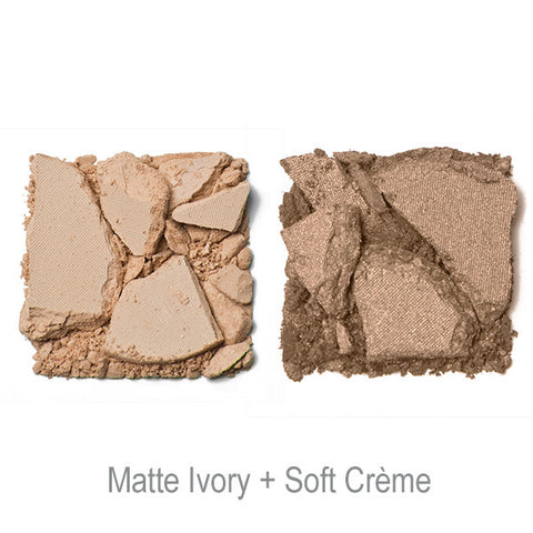 POP Shade Duette -Matte Ivory + Soft Creme